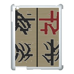 Xia Script On Gray Background Apple Ipad 3/4 Case (white)