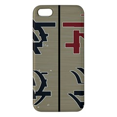 Xia Script On Gray Background Apple Iphone 5 Premium Hardshell Case
