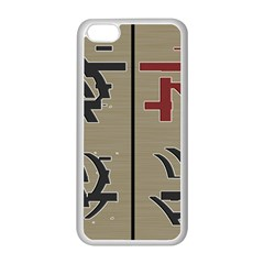 Xia Script On Gray Background Apple iPhone 5C Seamless Case (White)