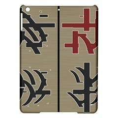 Xia Script On Gray Background Ipad Air Hardshell Cases