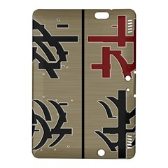 Xia Script On Gray Background Kindle Fire Hdx 8 9  Hardshell Case