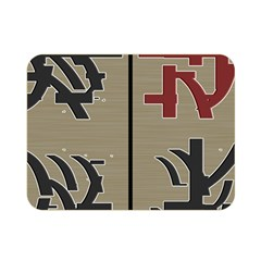 Xia Script On Gray Background Double Sided Flano Blanket (mini)