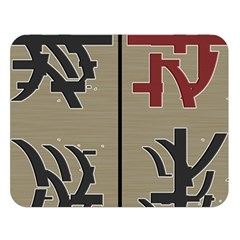Xia Script On Gray Background Double Sided Flano Blanket (large)