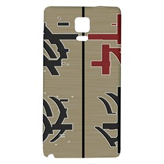 Xia Script On Gray Background Galaxy Note 4 Back Case