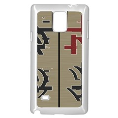 Xia Script On Gray Background Samsung Galaxy Note 4 Case (White)
