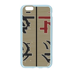 Xia Script On Gray Background Apple Seamless iPhone 6/6S Case (Color)