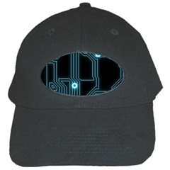 A Completely Seamless Background Design Circuitry Black Cap