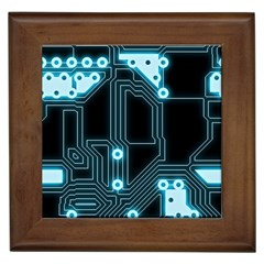 A Completely Seamless Background Design Circuitry Framed Tiles
