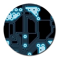 A Completely Seamless Background Design Circuitry Round Mousepads
