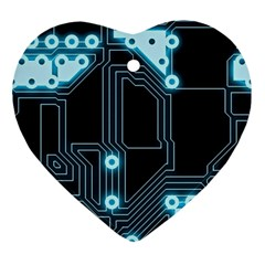 A Completely Seamless Background Design Circuitry Ornament (heart)