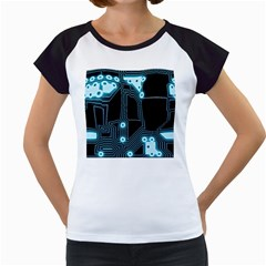 A Completely Seamless Background Design Circuitry Women s Cap Sleeve T