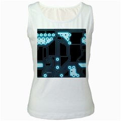 A Completely Seamless Background Design Circuitry Women s White Tank Top