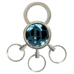 A Completely Seamless Background Design Circuitry 3-Ring Key Chains