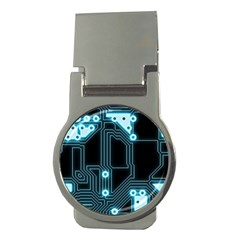 A Completely Seamless Background Design Circuitry Money Clips (round)