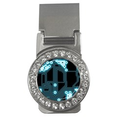 A Completely Seamless Background Design Circuitry Money Clips (CZ)
