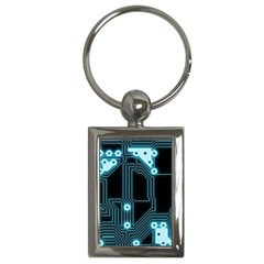 A Completely Seamless Background Design Circuitry Key Chains (rectangle)