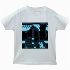 A Completely Seamless Background Design Circuitry Kids White T Shirts