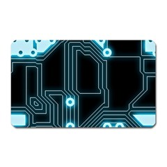 A Completely Seamless Background Design Circuitry Magnet (rectangular)