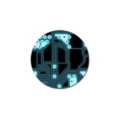 A Completely Seamless Background Design Circuitry Golf Ball Marker (4 Pack)