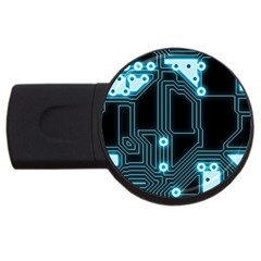 A Completely Seamless Background Design Circuitry USB Flash Drive Round (2 GB)