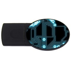 A Completely Seamless Background Design Circuitry USB Flash Drive Oval (2 GB)