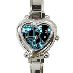 A Completely Seamless Background Design Circuitry Heart Italian Charm Watch