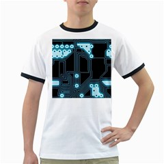A Completely Seamless Background Design Circuitry Ringer T-Shirts