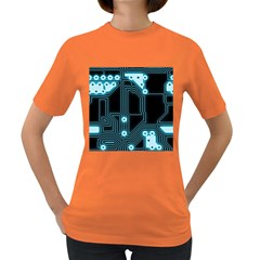 A Completely Seamless Background Design Circuitry Women s Dark T-Shirt