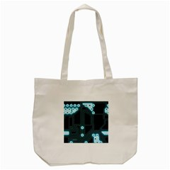 A Completely Seamless Background Design Circuitry Tote Bag (cream)