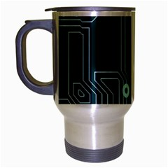 A Completely Seamless Background Design Circuitry Travel Mug (silver Gray)