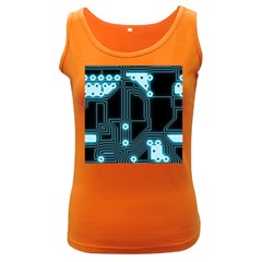 A Completely Seamless Background Design Circuitry Women s Dark Tank Top