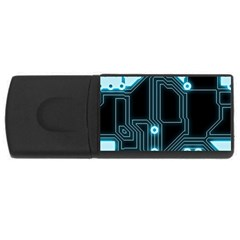 A Completely Seamless Background Design Circuitry Usb Flash Drive Rectangular (4 Gb)