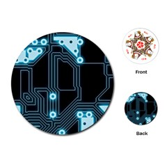 A Completely Seamless Background Design Circuitry Playing Cards (Round)