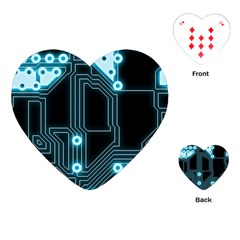A Completely Seamless Background Design Circuitry Playing Cards (Heart)