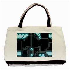 A Completely Seamless Background Design Circuitry Basic Tote Bag