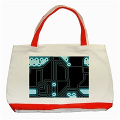 A Completely Seamless Background Design Circuitry Classic Tote Bag (red)