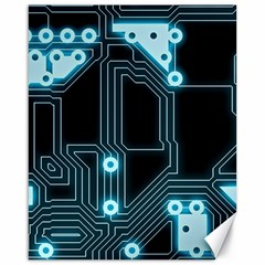 A Completely Seamless Background Design Circuitry Canvas 16  X 20