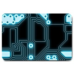 A Completely Seamless Background Design Circuitry Large Doormat