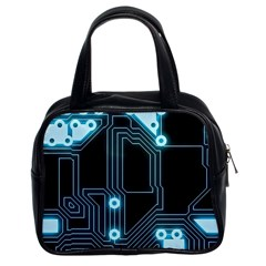 A Completely Seamless Background Design Circuitry Classic Handbags (2 Sides)