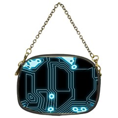 A Completely Seamless Background Design Circuitry Chain Purses (one Side)