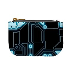 A Completely Seamless Background Design Circuitry Mini Coin Purses