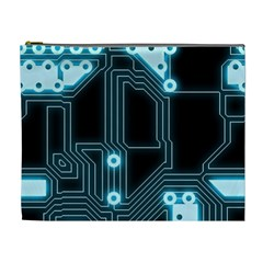 A Completely Seamless Background Design Circuitry Cosmetic Bag (xl)