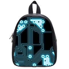 A Completely Seamless Background Design Circuitry School Bags (small)