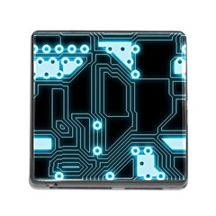 A Completely Seamless Background Design Circuitry Memory Card Reader (square)