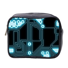 A Completely Seamless Background Design Circuitry Mini Toiletries Bag 2 Side