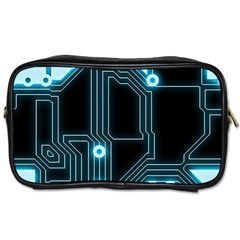 A Completely Seamless Background Design Circuitry Toiletries Bags 2 Side