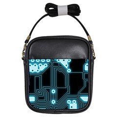 A Completely Seamless Background Design Circuitry Girls Sling Bags