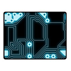 A Completely Seamless Background Design Circuitry Fleece Blanket (small)