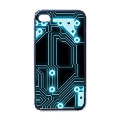 A Completely Seamless Background Design Circuitry Apple Iphone 4 Case (black)