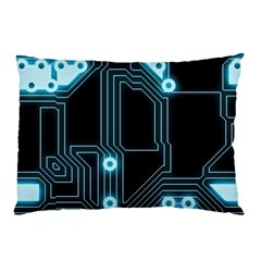 A Completely Seamless Background Design Circuitry Pillow Case (two Sides)